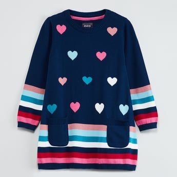 MAX Jacquard Knitted Sweater Dress