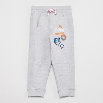 MAX Typographic Applique Detail Joggers