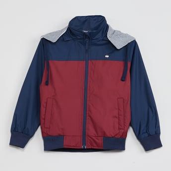 MAX Colourblocked Hooded Zip-Up Jacket