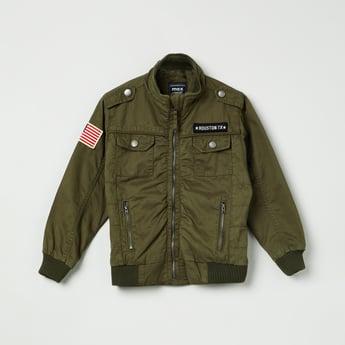 MAX Patchworked Zip-Up Jacket