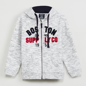MAX Applique Detailed Zip-Up Sweatshirt