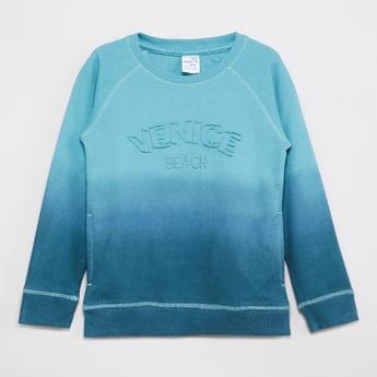 MAX Ombre Applique Sweatshirt