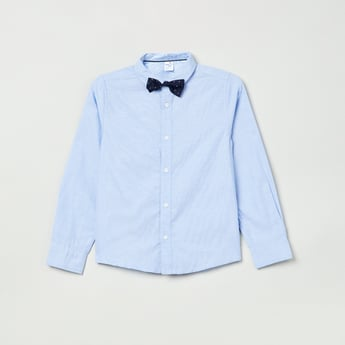 MAX Solid Shirt with Bow Tie