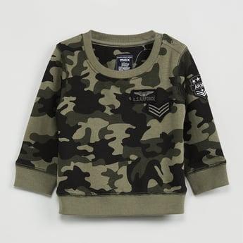 MAX Camouflage Print Full Sleeves Sweatshirt