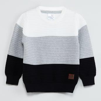 MAX Colourblock Full Sleeves Sweater