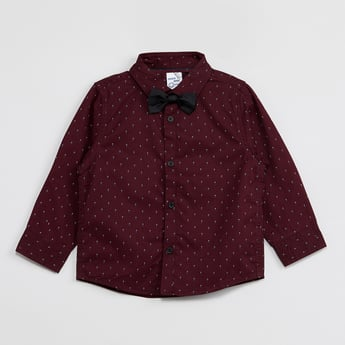 MAX Printed Shirt with Bow Tie