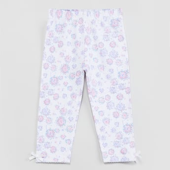 MAX Floral Printed Knitted Leggings