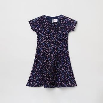 MAX Butterfly Print Skater Dress