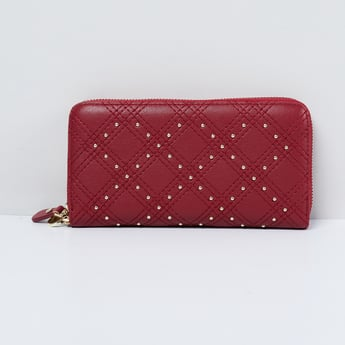 MAX Embellished Zip-Around Wallet