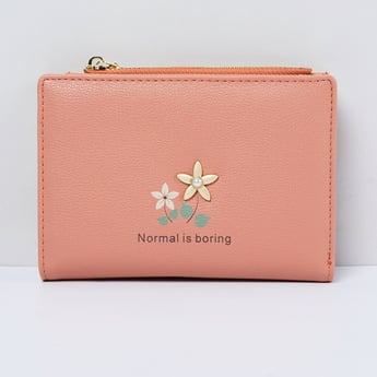 MAX Floral Print Three-Fold Wallet