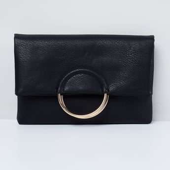MAX Textured Clutch with Sling Strap