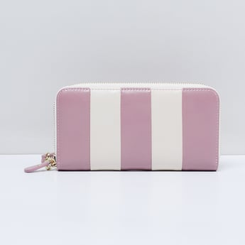 MAX Striped Zip-Around Wallet