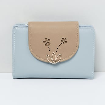 MAX Embellished Bi-Fold Wallet with Floral Cut-out