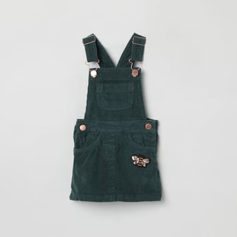 MAX Patchworked Corduroy Pinafore Dungaree