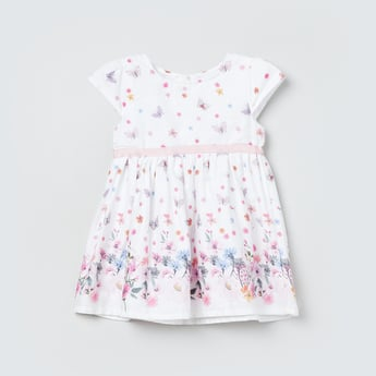 MAX Floral Print Cap Sleeves Dress