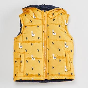 MAX Printed Hooded Gilet Jacket