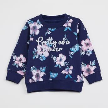 MAX Floral Print Full Sleeves Sweatshirt
