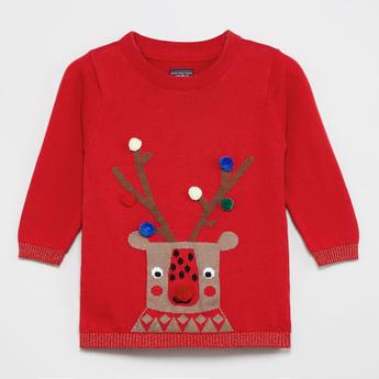 MAX Pom Pom Detail Full Sleeves Sweater