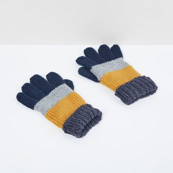 MAX Colourblocked Knitted Gloves