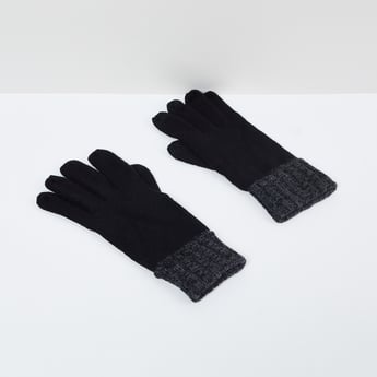 MAX Solid Flat-Knitted Gloves