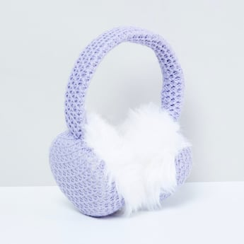 MX Knitted Fur Detailed Earmuffs