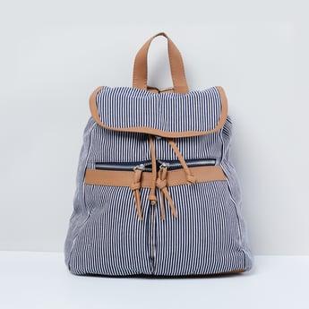 MAX Striped Drawstring Closure Backpack