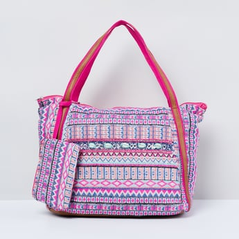 MAX Patterned Weave Tote Bag