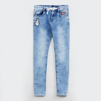 MAX Stonewashed Jeans with Applique