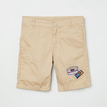 MAX City Shorts with Applique Detail