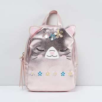 MAX Kitty Embellished Zip-Closure Backpack