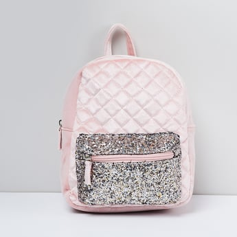 MAX Quilted Glitter Detailed Backpack