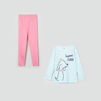 MAX Printed Lounge Top with Pyjamas