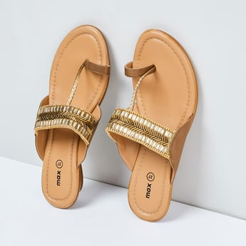MAX Embellished Toe-Strap Sandals