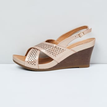 MAX Laser Cut Slingback Wedges