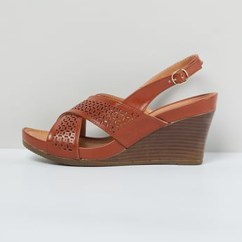 MAX Laser Cut Criss-Cross Strap Wedges