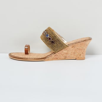 MAX Embellished Toe-Ring Wedges