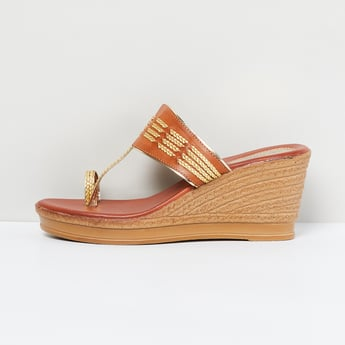 MAX Braided Toe-Strap Wedges