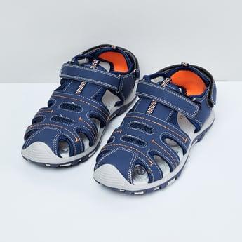 MAX Printed Velcro Closure Sandals