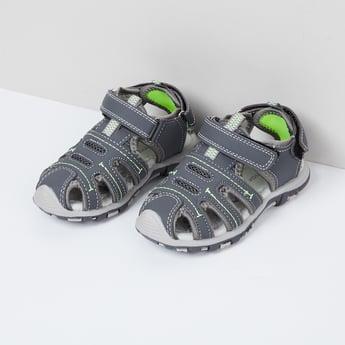 MAX Solid Velcro Strap Sandals