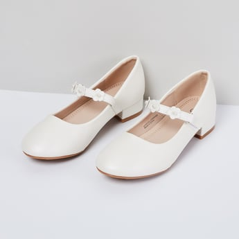 MAX Solid Mary Janes with Block Heels