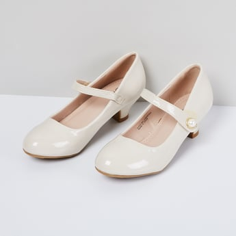 MAX Solid Mary Janes with Cone Heels