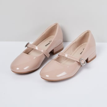 MAX Embellished Mary Janes with Chunky Heels