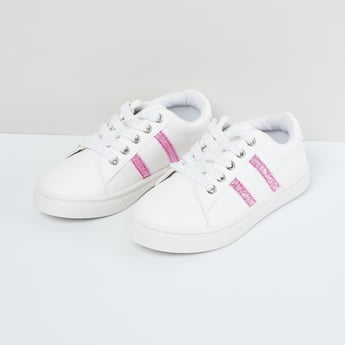 MAX Low-Top Casual Shoes with Shimmery Panel