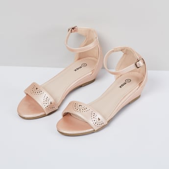 MAX Ankle-Strap Sandals with Laser Cutouts