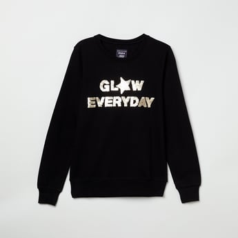 MAX Sequinned Full Sleeves Sweatshirt