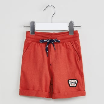 MAX Solid Shorts with Upturned Hems