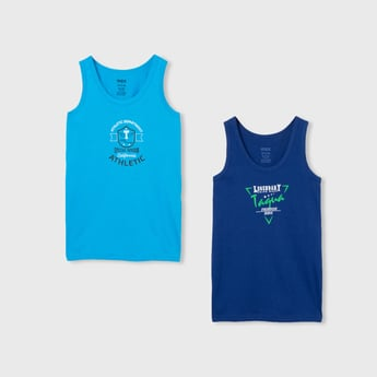MAX Printed Sleeveless Vests - Pack of 2