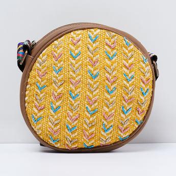 MAX Patterned Weave Beaded Sling Bag