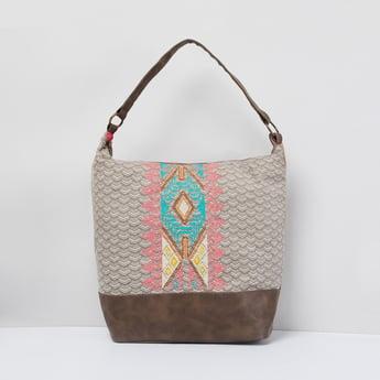 MAX Patterned Weave Hobo Bag