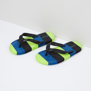 MAX Colourblocked V-strap Slippers